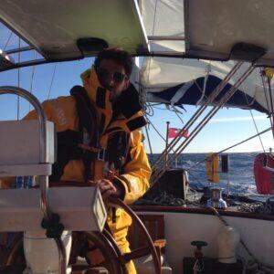 Segelinstruktor Peter Atlantiküberquerung